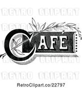 Vector Clip Art of Retro Cafe Sign 2 by Prawny Vintage