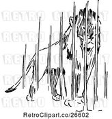 Vector Clip Art of Retro Caged Lion by Prawny Vintage