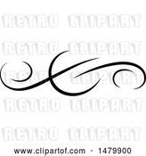 Vector Clip Art of Retro Calligraphic Design Element by Frisko