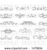 Vector Clip Art of Retro Calligraphic Design Elements by Frisko