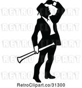 Vector Clip Art of Retro Campaigner 11 by Prawny Vintage