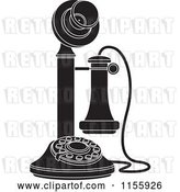 Vector Clip Art of Retro Candlestick Telephone 1 by Lal Perera