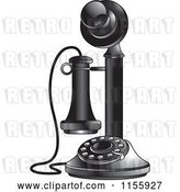 Vector Clip Art of Retro Candlestick Telephone 2 by Lal Perera