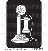 Vector Clip Art of Retro Candlestick Telephone Icon by Lal Perera