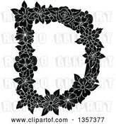 Vector Clip Art of Retro Capital Floral Letter D Design by Vector Tradition SM