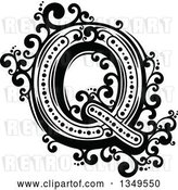 Vector Clip Art of Retro Capital Letter Q with Flourishes by Vector Tradition SM