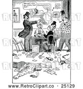 Vector Clip Art of Retro Card Players by Prawny Vintage