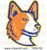 Vector Clip Art of Retro Cardigan Welsh Corgi Dog Mascot by Patrimonio