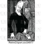 Vector Clip Art of Retro Caricature of George Bernard Shaw by Prawny Vintage