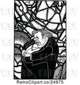 Vector Clip Art of Retro Caricature of Gilbert Keith Chesterton by Prawny Vintage