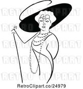 Vector Clip Art of Retro Caricature of Lillian Russel by Prawny Vintage