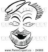 Vector Clip Art of Retro Caricature of Nat Willis by Prawny Vintage