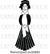 Vector Clip Art of Retro Caricature of Vesta Victoria by Prawny Vintage