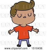 Vector Clip Art of Retro Cartoon Aloof Guy by Lineartestpilot