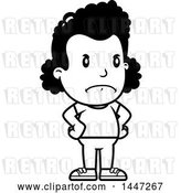 Vector Clip Art of Retro Cartoon Angry Black Girl with Hands on Her Hips by Cory Thoman