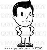 Vector Clip Art of Retro Cartoon Angry Boy with Hands on His Hips by Cory Thoman