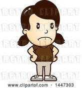 Vector Clip Art of Retro Cartoon Angry White Girl with Hands on Her Hips by Cory Thoman