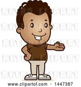 Vector Clip Art of Retro Cartoon Black Boy Presenting by Cory Thoman