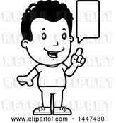 Vector Clip Art of Retro Cartoon Black Boy Talking by Cory Thoman