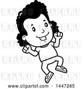 Vector Clip Art of Retro Cartoon Black Girl Jumping by Cory Thoman