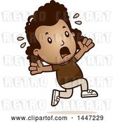 Vector Clip Art of Retro Cartoon Black Girl Running Scared by Cory Thoman