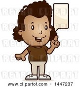 Vector Clip Art of Retro Cartoon Black Girl Talking by Cory Thoman