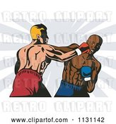 Vector Clip Art of Retro Cartoon Boxers Throwing Punches by Patrimonio