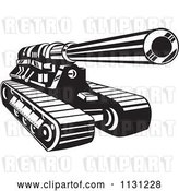 Vector Clip Art of Retro Cartoon Cannon Military Artillery Tank by Patrimonio