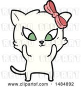 Vector Clip Art of Retro Cartoon Cat by Lineartestpilot