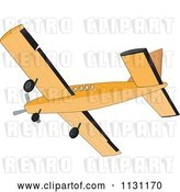 Vector Clip Art of Retro Cartoon Cessna Airplane by Patrimonio