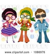Vector Clip Art of Retro Cartoon Children Dressed up in Outfits by BNP Design Studio