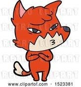 Vector Clip Art of Retro Cartoon Clever Fox by Lineartestpilot