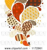 Vector Clip Art of Retro Cartoon Colored and Patterned Splash by BNP Design Studio