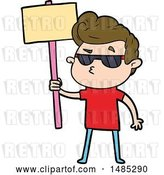 Vector Clip Art of Retro Cartoon Cool Guy by Lineartestpilot