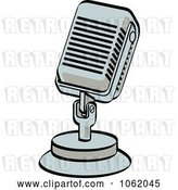 Vector Clip Art of Retro Cartoon Desk Microphone by Andy Nortnik