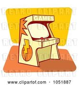 Vector Clip Art of Retro Cartoon Game Arcade Machine by Any Vector