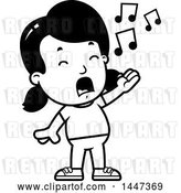 Vector Clip Art of Retro Cartoon Girl Singing by Cory Thoman