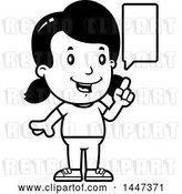 Vector Clip Art of Retro Cartoon Girl Talking by Cory Thoman