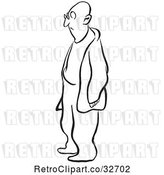 Vector Clip Art of Retro Cartoon Guy Standing by Picsburg
