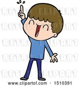Vector Clip Art of Retro Cartoon Guy with Great Idea by Lineartestpilot