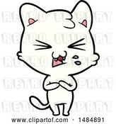 Vector Clip Art of Retro Cartoon Hissing Cat by Lineartestpilot