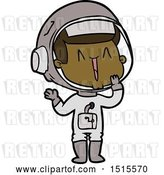 Vector Clip Art of Retro Cartoon Laughing Astronaut by Lineartestpilot