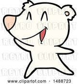 Vector Clip Art of Retro Cartoon Laughing Polar Bear Cartoon by Lineartestpilot