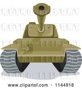 Vector Clip Art of Retro Cartoon Military Tank 2 by Patrimonio