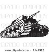 Vector Clip Art of Retro Cartoon Military Tank in by Patrimonio