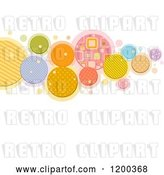 Vector Clip Art of Retro Cartoon Patterened Circle Background with Text Space by BNP Design Studio