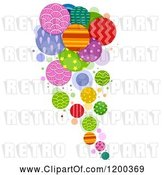 Vector Clip Art of Retro Cartoon Patterened Circle Design by BNP Design Studio