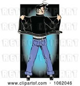 Vector Clip Art of Retro Cartoon Rockabilly Greaser from Behind by Andy Nortnik