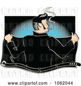 Vector Clip Art of Retro Cartoon Rockabilly Greaser Opening His Jacket by Andy Nortnik