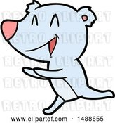 Vector Clip Art of Retro Cartoon Running Bear Cartoon by Lineartestpilot